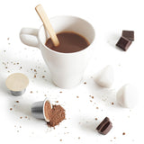 Make hot chocolate in a Nespresso Machine with these Sealpod Biodegradable Paper Lids and reusable coffee capsules