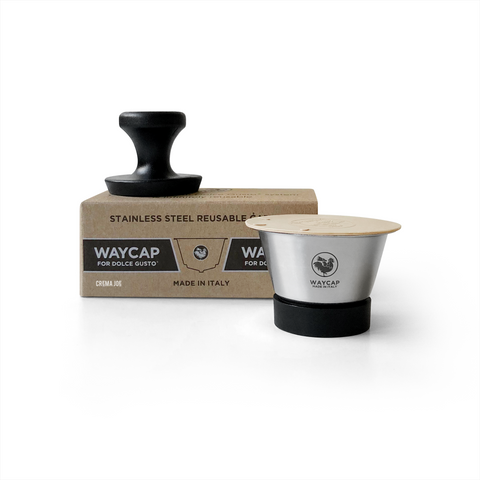 WayCap Stainless Steel Reusable Coffee Pod One Pack for Dolce Gusto® with Tamper