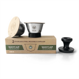 WayCap Stainless Steel Reusable Coffee Pod Two Pack for Dolce Gusto® with Tamper