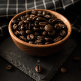 Crema Joe coffee: Medium-dark roast beans in wooden bowl | Melbourne roaster