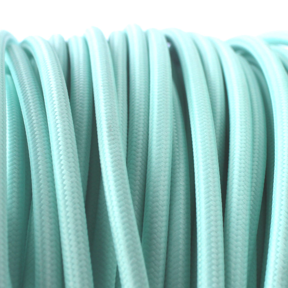 Minty coloured 3 core fabric cord