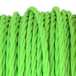 Flouro Green twist fabric covered electrical cord