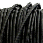 Black 3 core fabric electrical cord