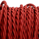 Burgundy twist fabric covered electrical cord