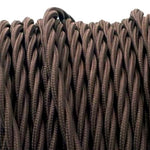 Dark Brown fabric covered electrical cord