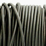 Dark Grey 3 core fabric electrical cord