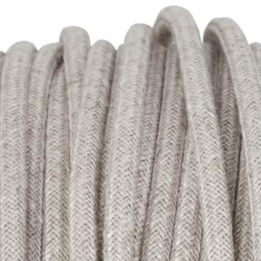 Linen covered 3 core cord