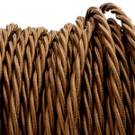 Olive brown twist fabric covered electrical cord