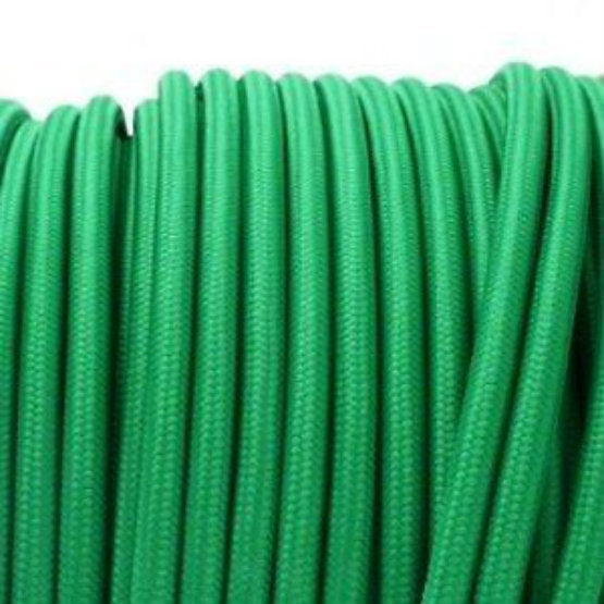 Pea Green fabric covered electrical cord