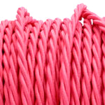 Pink twist fabric covered electrical cord