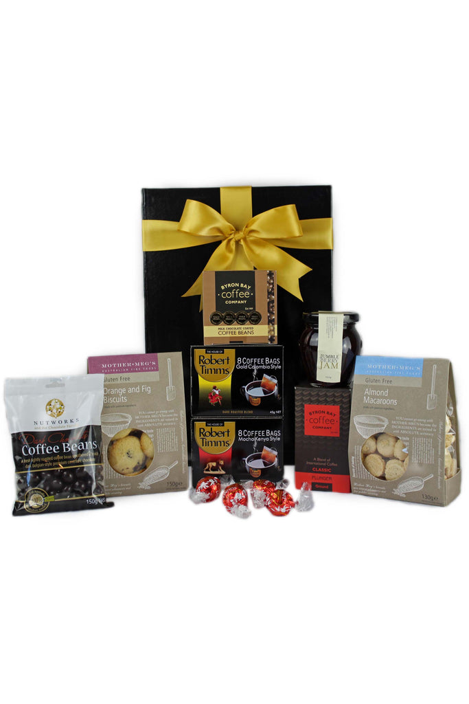 Giant gourmet hamper adore gift baskets coffee lovers gluten free negle