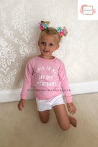 CHILDS CANDY PINK THIS IS MY DAY OFF SWEATSHIRT