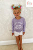 CHILDS LILAC THIS IS MY DAY OFF SWEATSHIRT