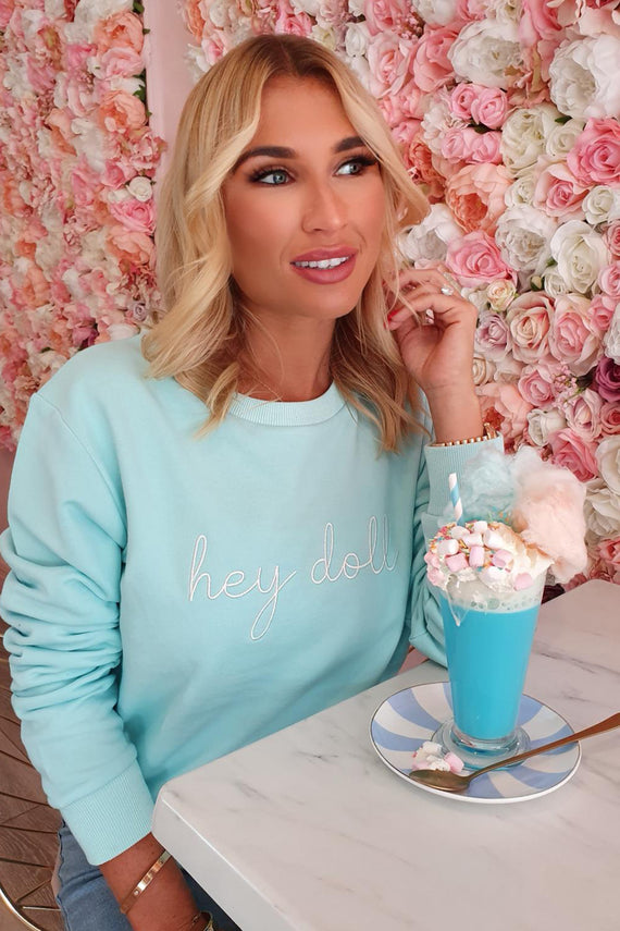 MINT HEY DOLL SWEATSHIRT