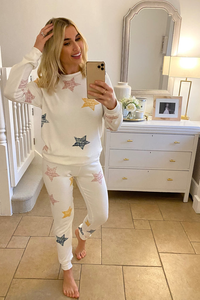 MYNELLY CREAM STAR PYJAMAS