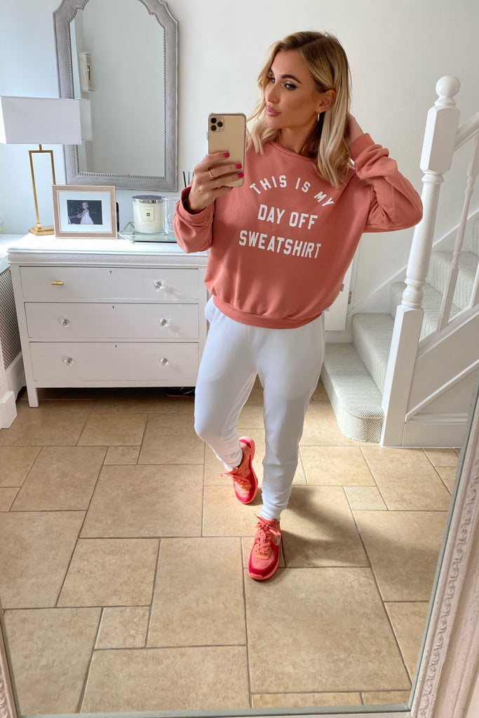 MYNELLY BLUSH THIS IS MY DAY OFF SWEATSHIRT