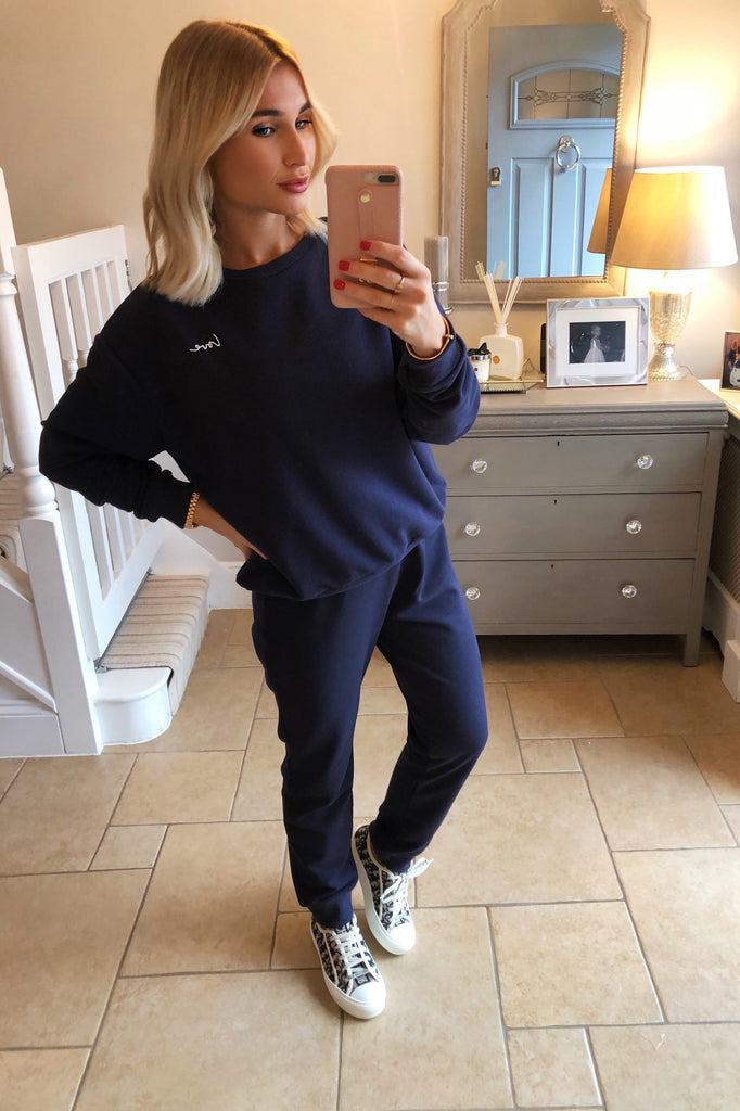 NAVY MYNELLY LOVE TRACKSUIT