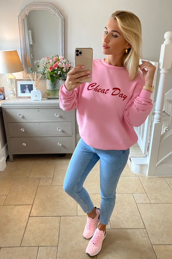 PINK CHEAT DAY SWEATSHIRT
