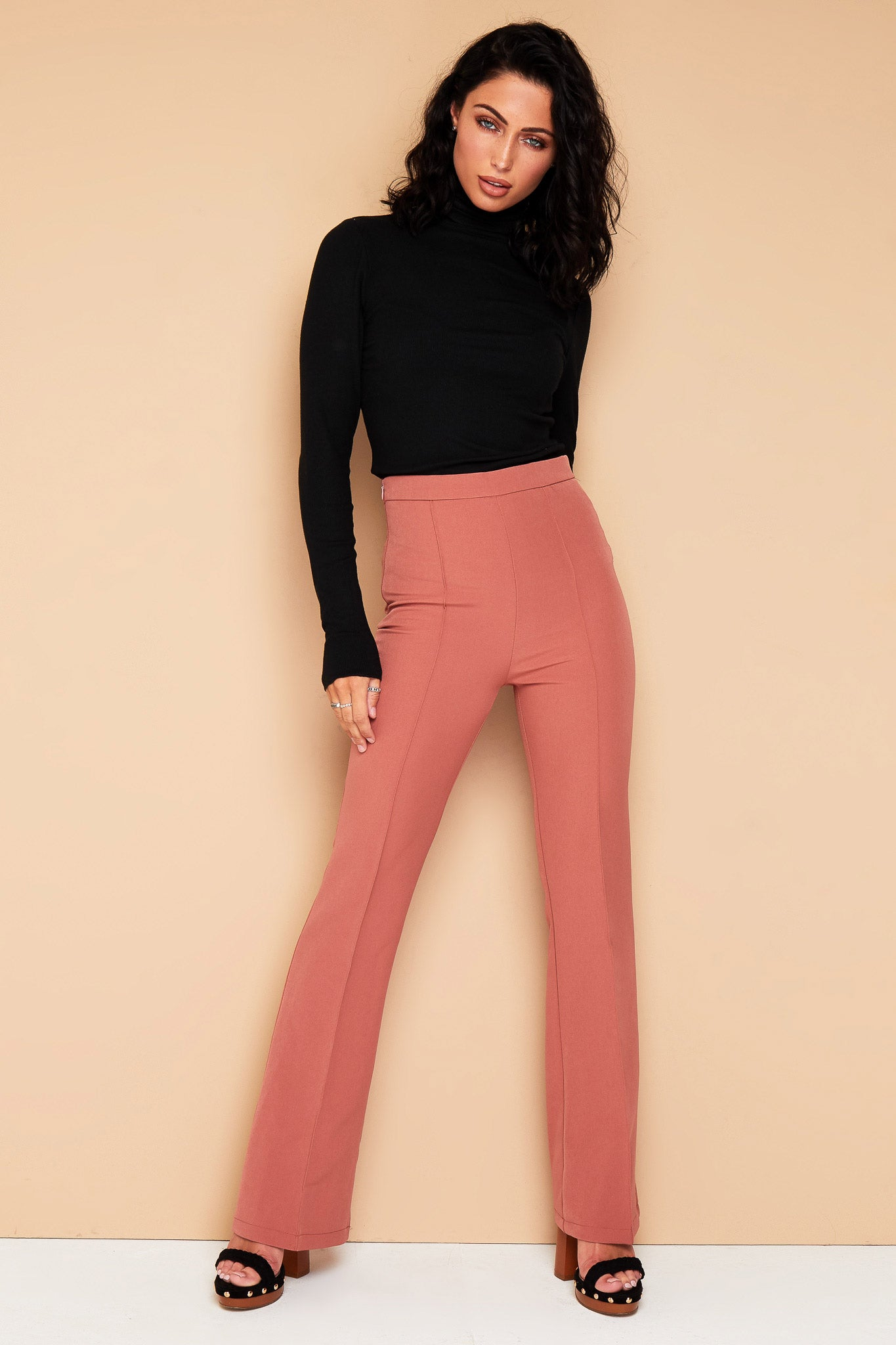DUSKY ROSE PINK TROUSERS