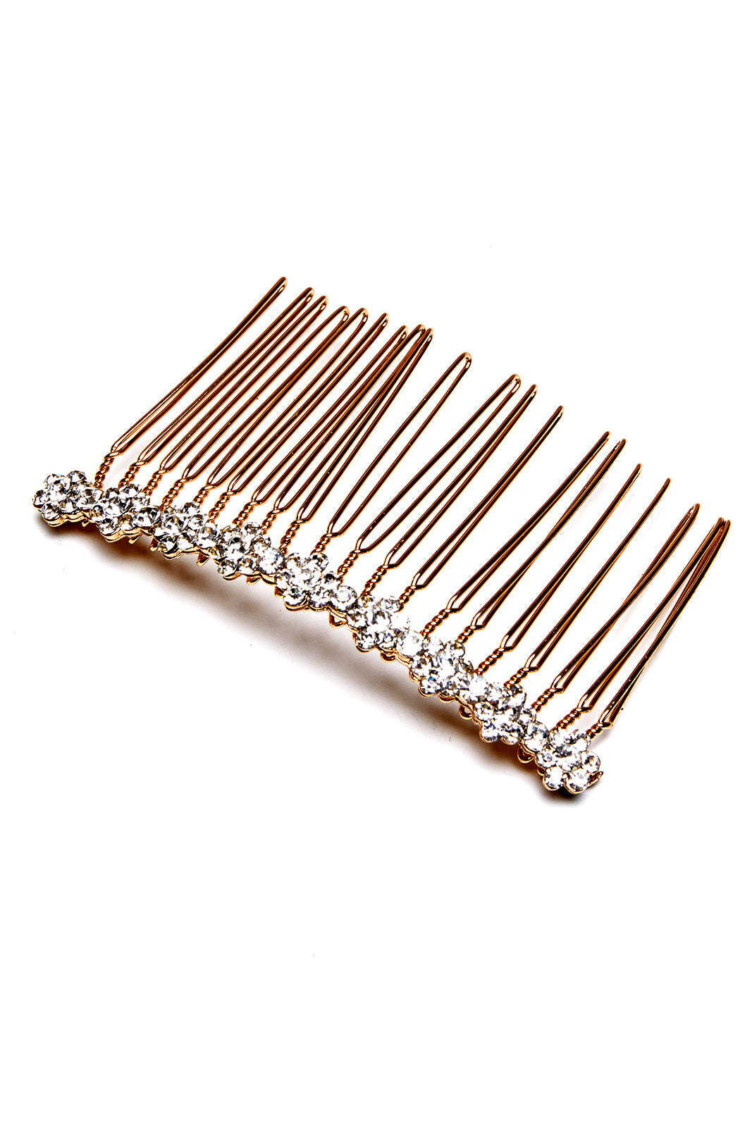 GOLD DIAMANTE HAIR COMB