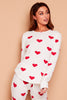 CREAM MYNELLY LOVE HEART PYJAMAS