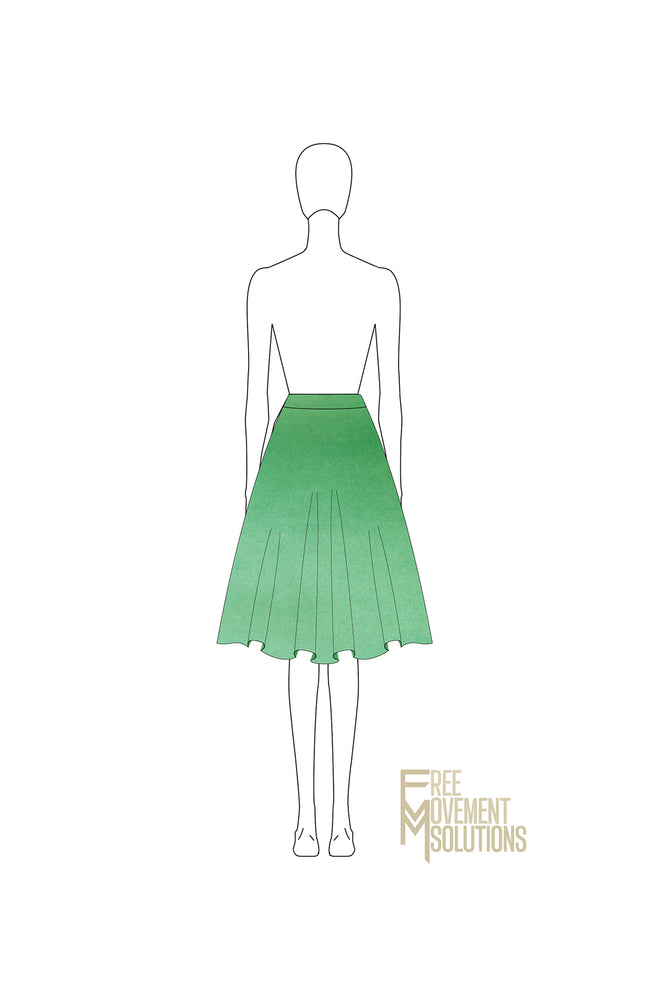 Load image into Gallery viewer, Flared Knee Length Skirt