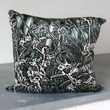 silk cushion -red