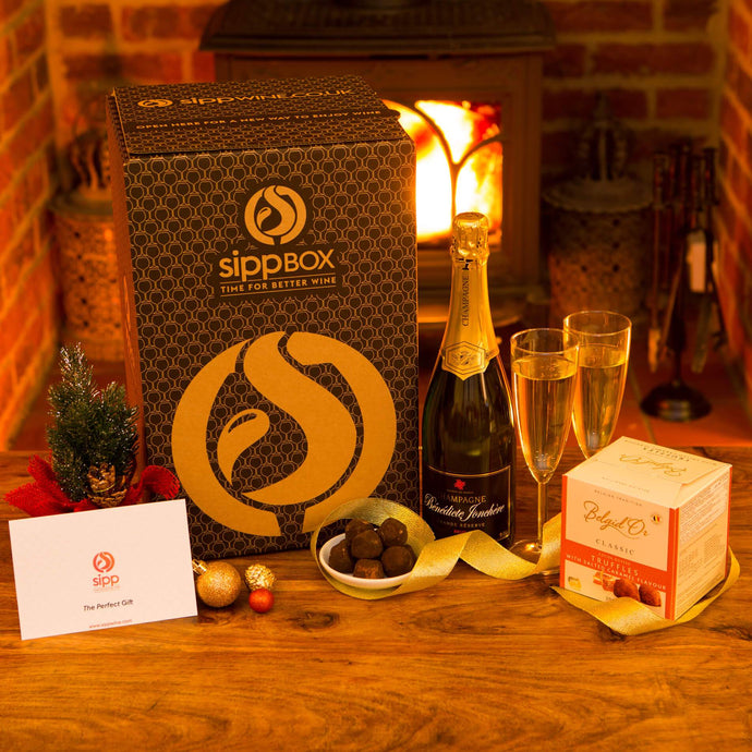 Champagne & Chocolates Gift Box - sipp