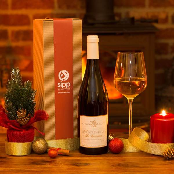 Gift-wrapped White Wine Box - sipp