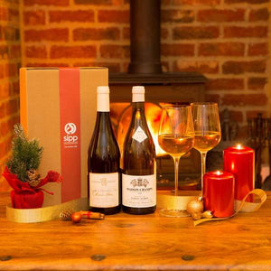 Premium White Wine Duo Gift-wrapped Box Burgundy Special - sipp