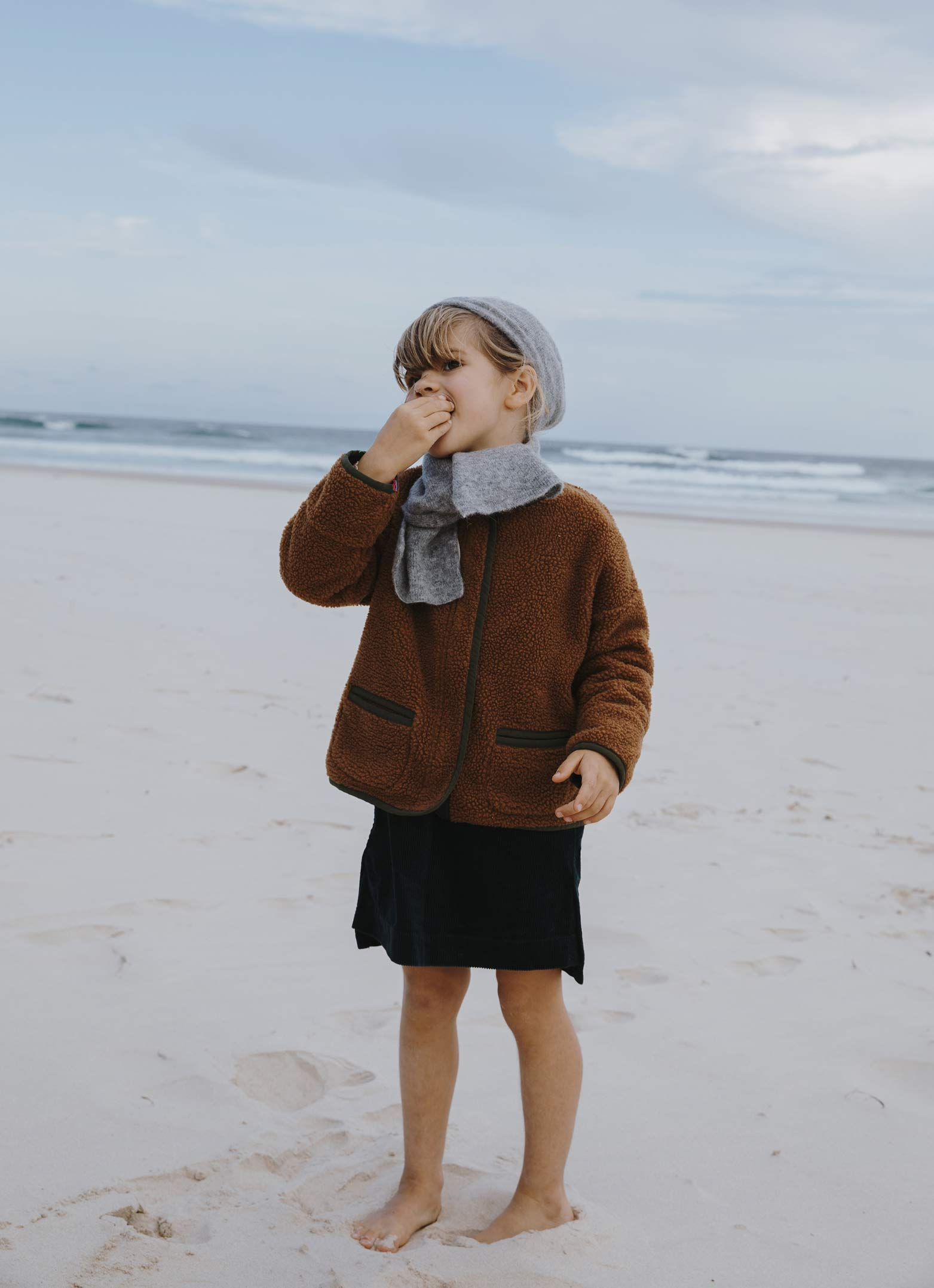 Girls FW'18 The Simple Life brown jacket Bellerose