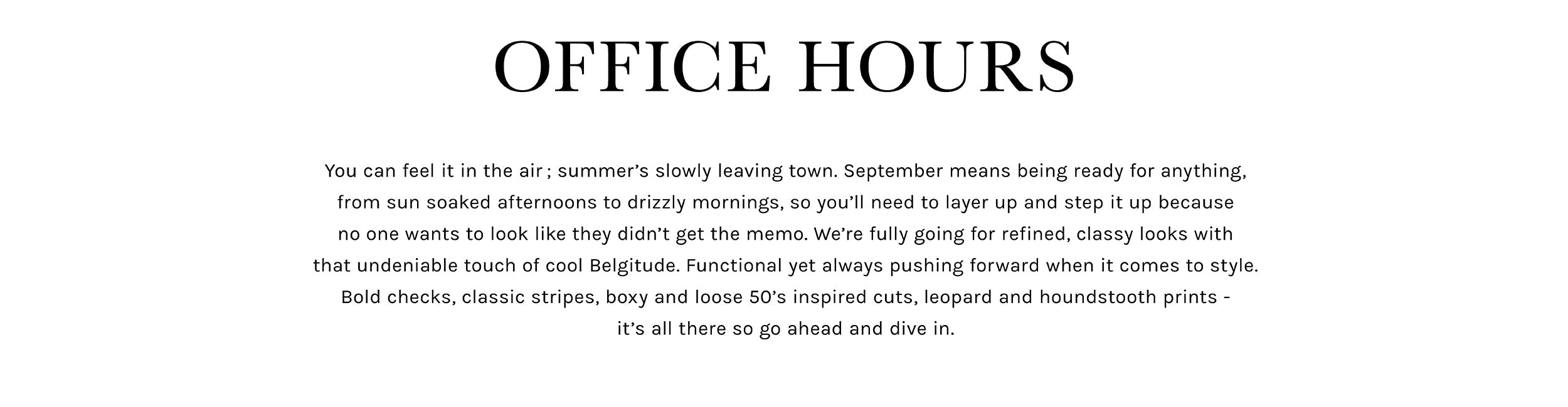 Bellerose Fall Winter'18 Office Hours collection