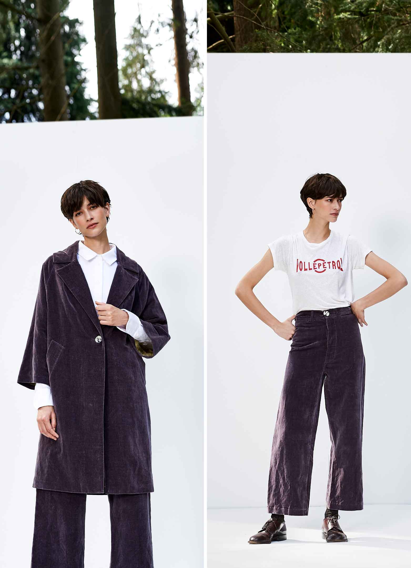 Bellerose FW'18 Saintonge trench coat and t-shirt for women