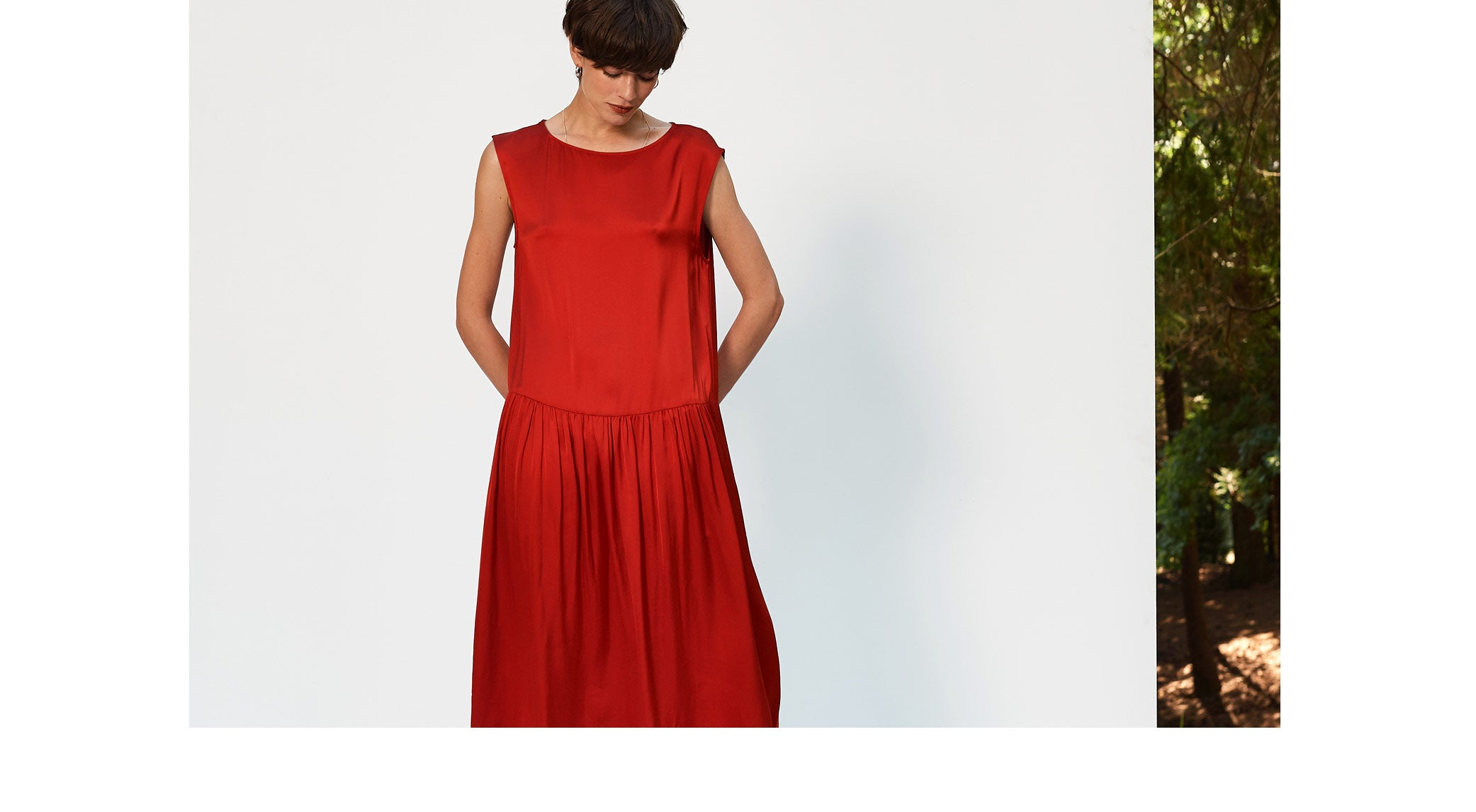 Bellerose FW'18 Saintonge red silky dress for women