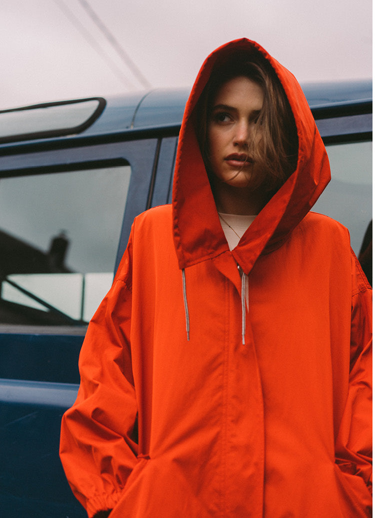 Women SS'19 Stopover red Laos military inspired parka Bellerose