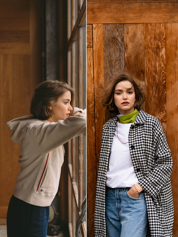 Women SS'19 white sweatshirt and Nicholson pants Bellerose