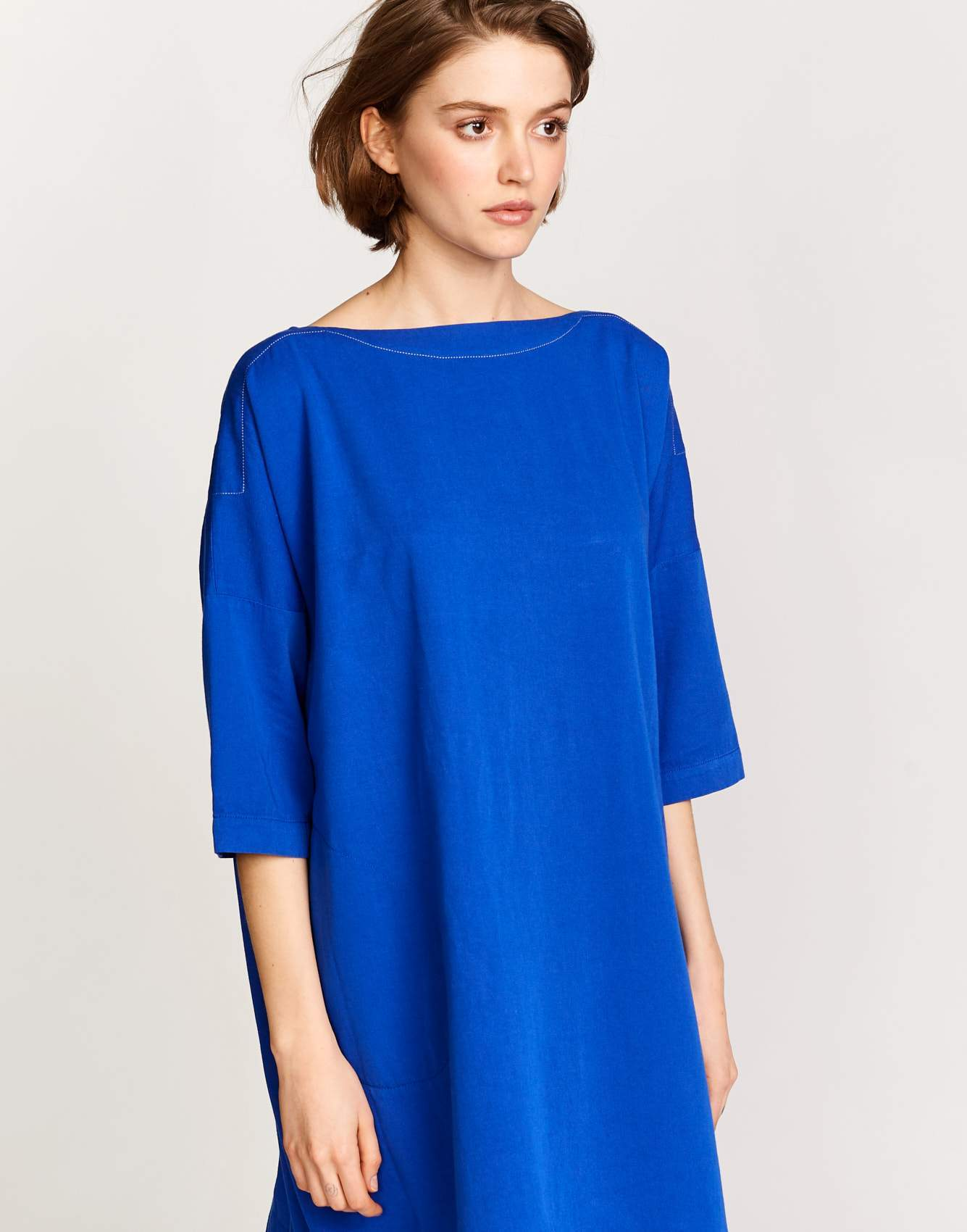 Bellerose oversized blue  cotton dress for women