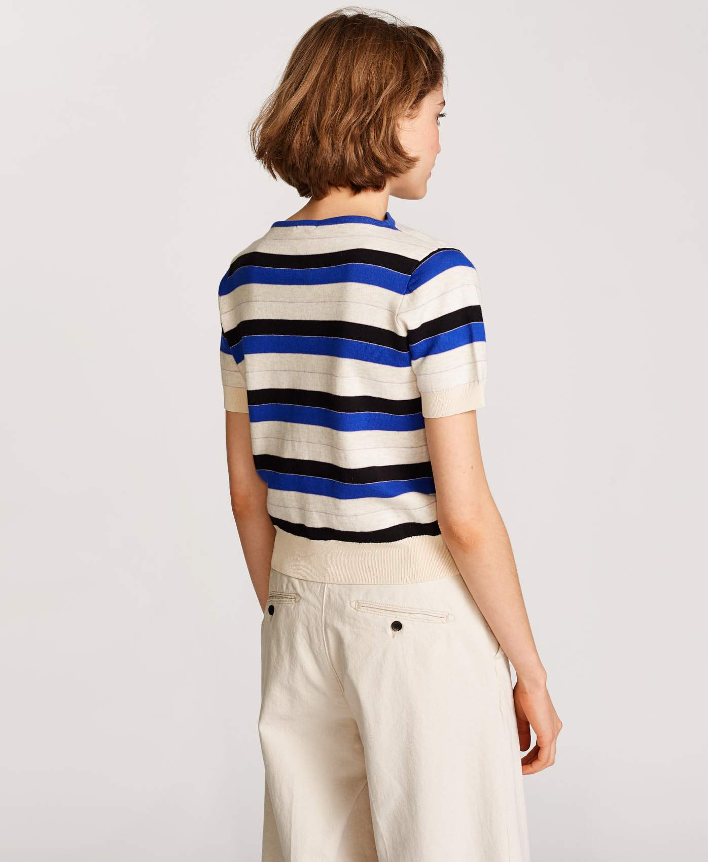 Bellerose striped short sleeves knitwear for women