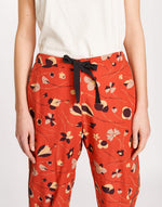 Bellerose print cotton baggy pants for women