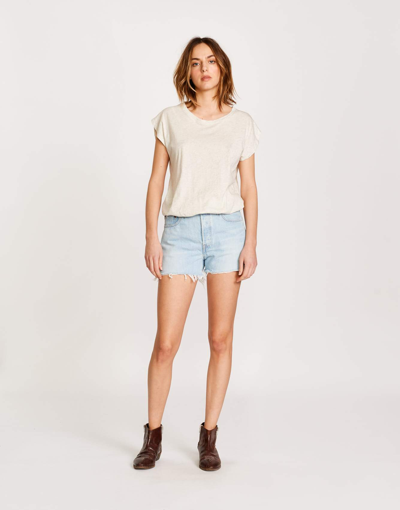 Bellerose white cotton body for women