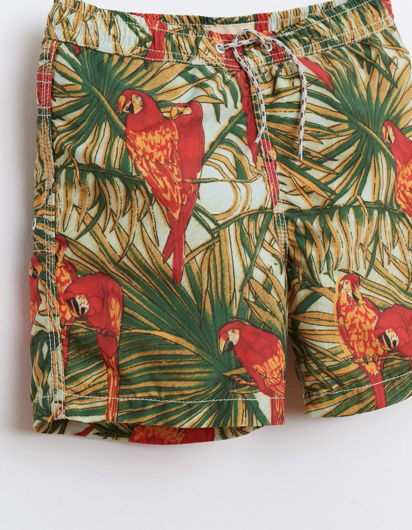 Bellerose jungle print nylon elasticated swin shorts