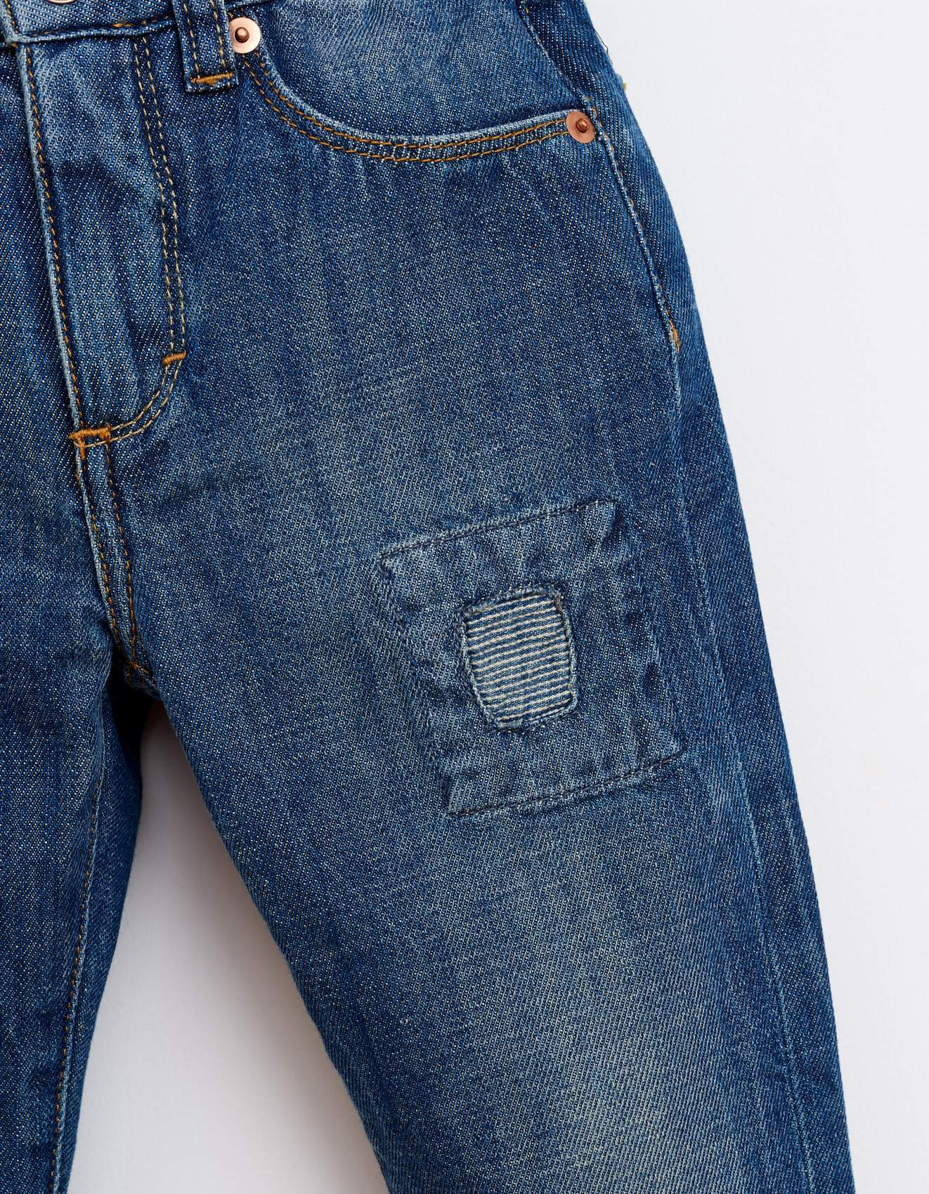Bellerose dark blue denim pants for girls