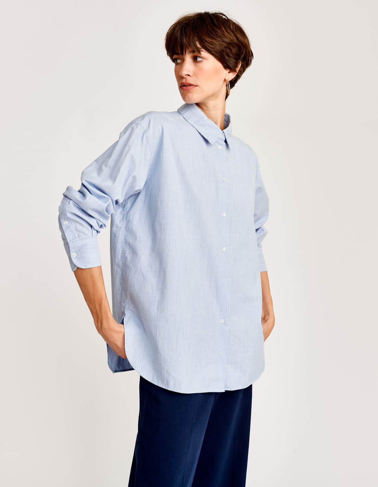 Bellerose oversized striped cotton shirt for women