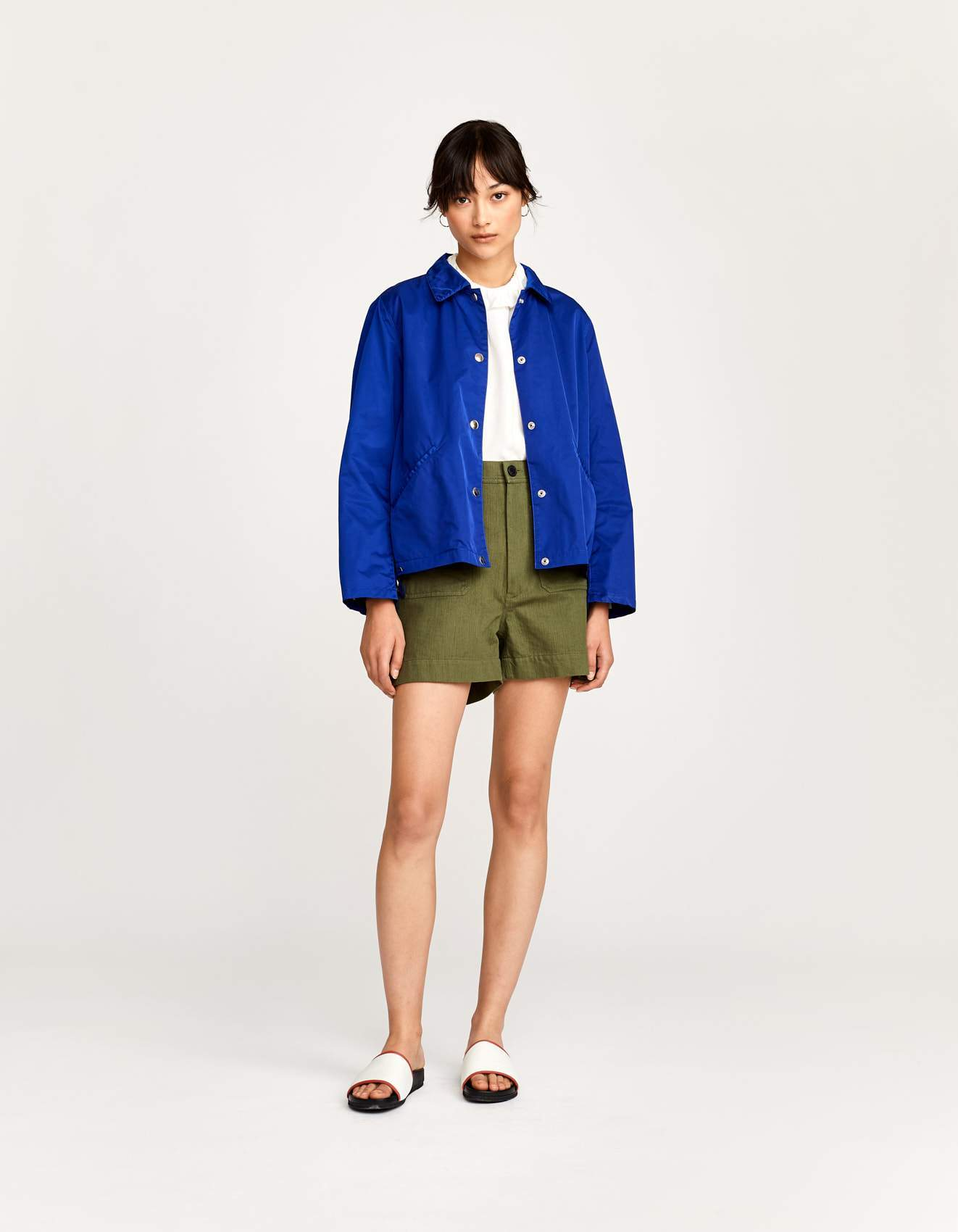 Bellerose blue unlined coach jacket for women