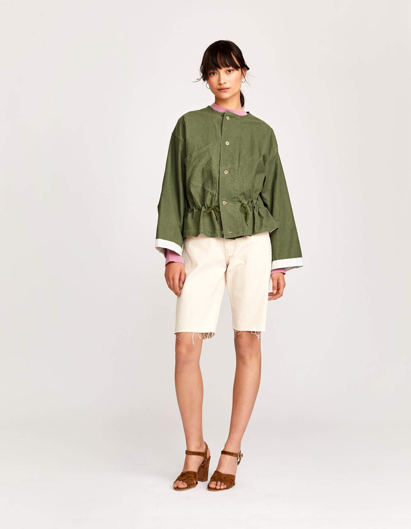Bellerose vintage green military style jacket for women