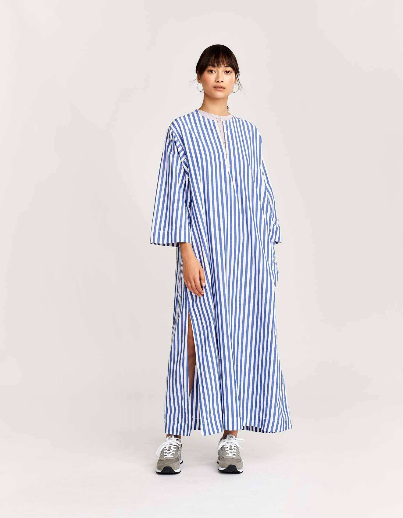 Bellerose striped cotton maxi dress for women