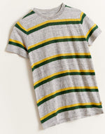 Bellerose linen t-shirt with orange stripes for boys available on our official e-shop
