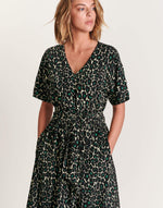 Bellerose black leopard print dress for women