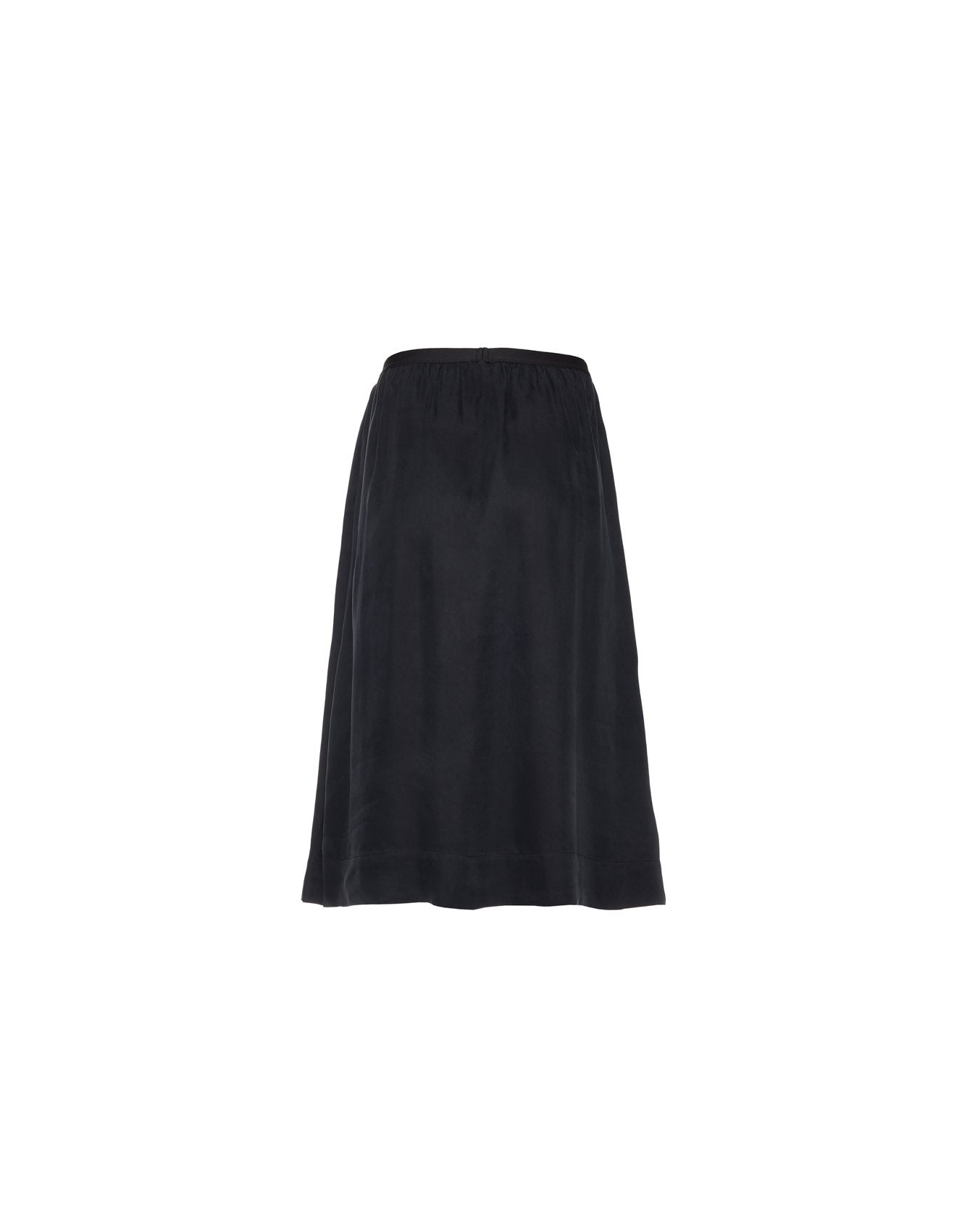 Bellerose black viscose flared skirt for women