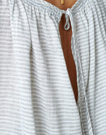 Bellerose white striped open back shirt for women